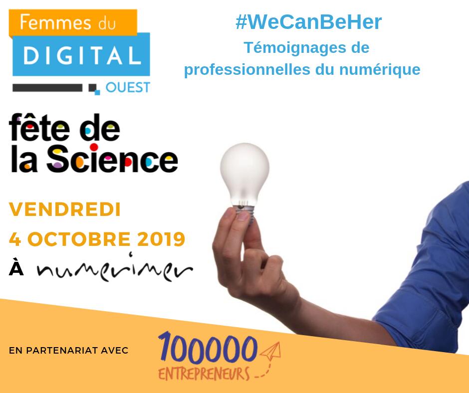 Fête de la science : #WeCanBeHer by FDOuest